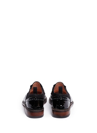 Back View - Click To Enlarge - Robert Clergerie - 'Egon' suede leather brogue slip-ons
