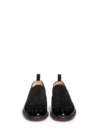 Figure View - Click To Enlarge - Robert Clergerie - 'Egon' suede leather brogue slip-ons