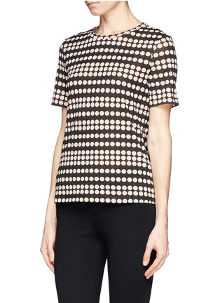 Front View - Click To Enlarge - Tory Burch - 'Gabriel' polka dot print T-shirt