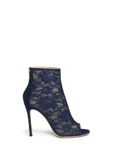 GIANVITO ROSSI Lace peep toe ankle boots