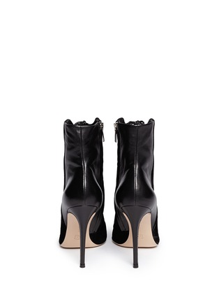 Back View - Click To Enlarge - Gianvito Rossi - Leather suede lace-up boots