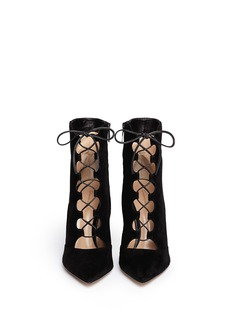 GIANVITO ROSSI Leather suede lace-up boots