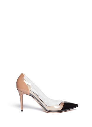 Main View - Click To Enlarge - Gianvito Rossi - Clear PVC bi-colour patent leather pumps