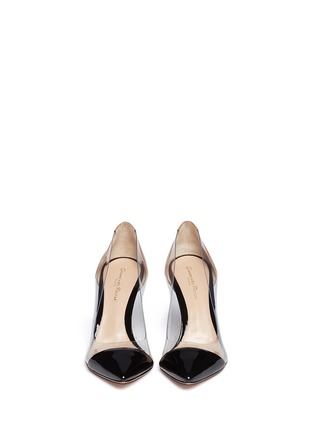 Figure View - Click To Enlarge - Gianvito Rossi - Clear PVC bi-colour patent leather pumps