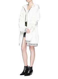 STRATEAS CARLUCCIOversized coated windbreaker jacket