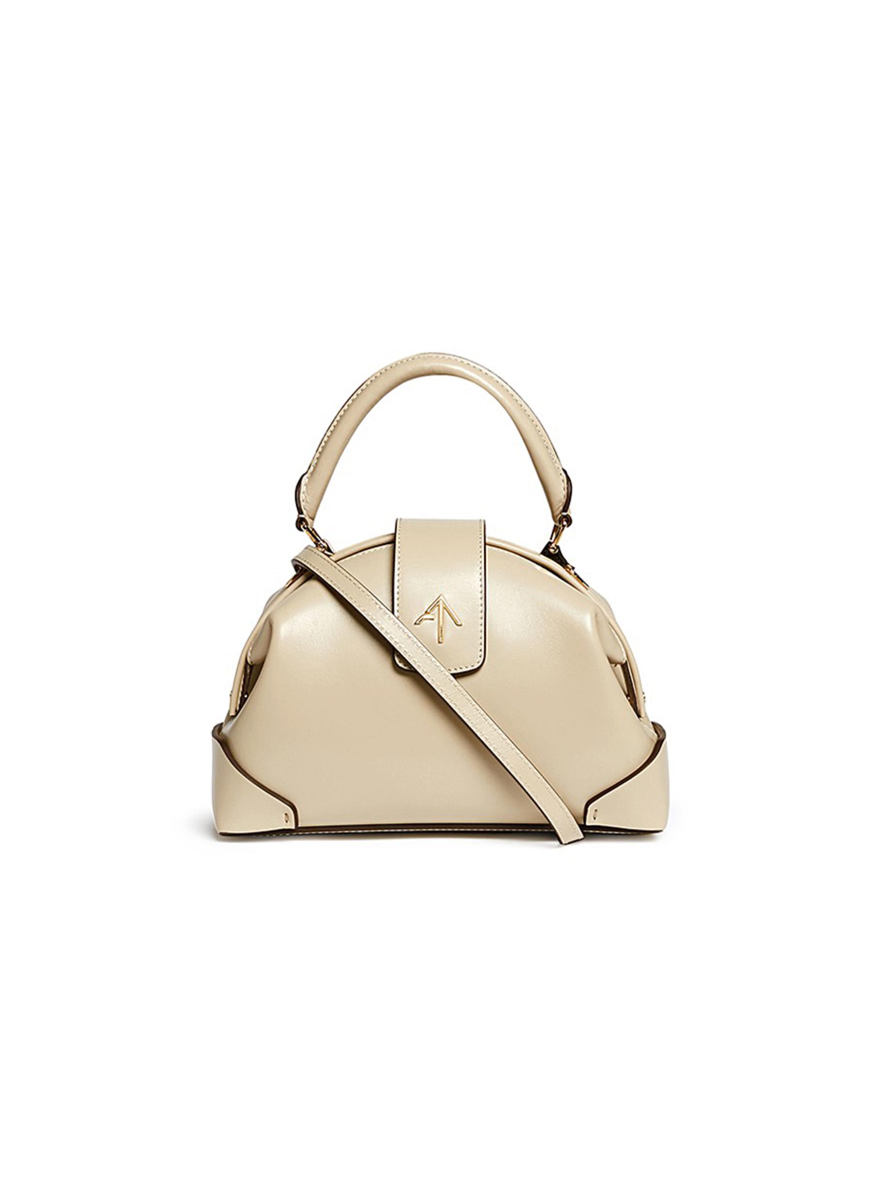 manu atelier female demi small leather crossbody satchel
