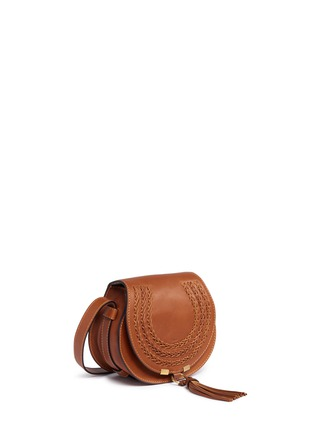 Detail View - Click To Enlarge - Chloé - 'Marcie' mini tassel braided leather saddle bag