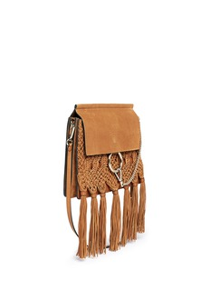 Chloé 'Faye' medium braided suede and leather shoulder bag