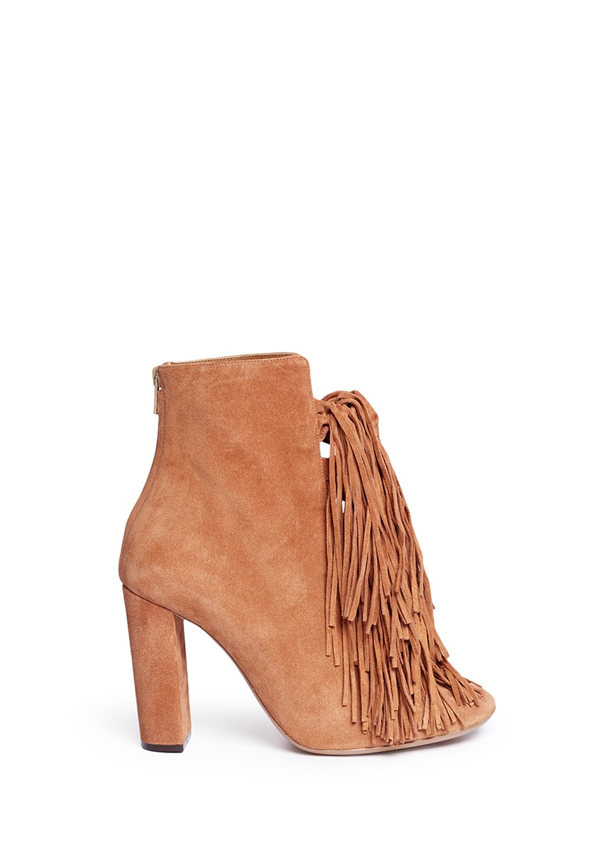 Maya knotted tassel suede boots by Chloé
