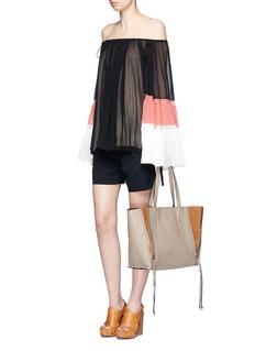Chloé'Milo' medium tassel leather tote