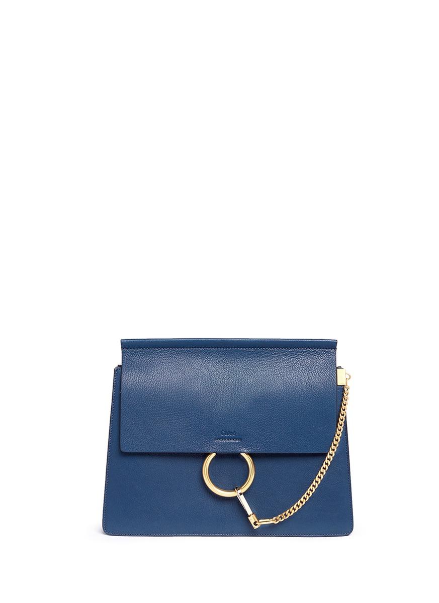 Faye medium flap leather shoulder bag by Chloé