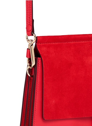 - Chloé - 'Faye' medium suede flap leather shoulder bag