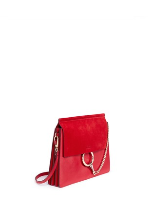 Figure View - Click To Enlarge - Chloé - 'Faye' medium suede flap leather shoulder bag