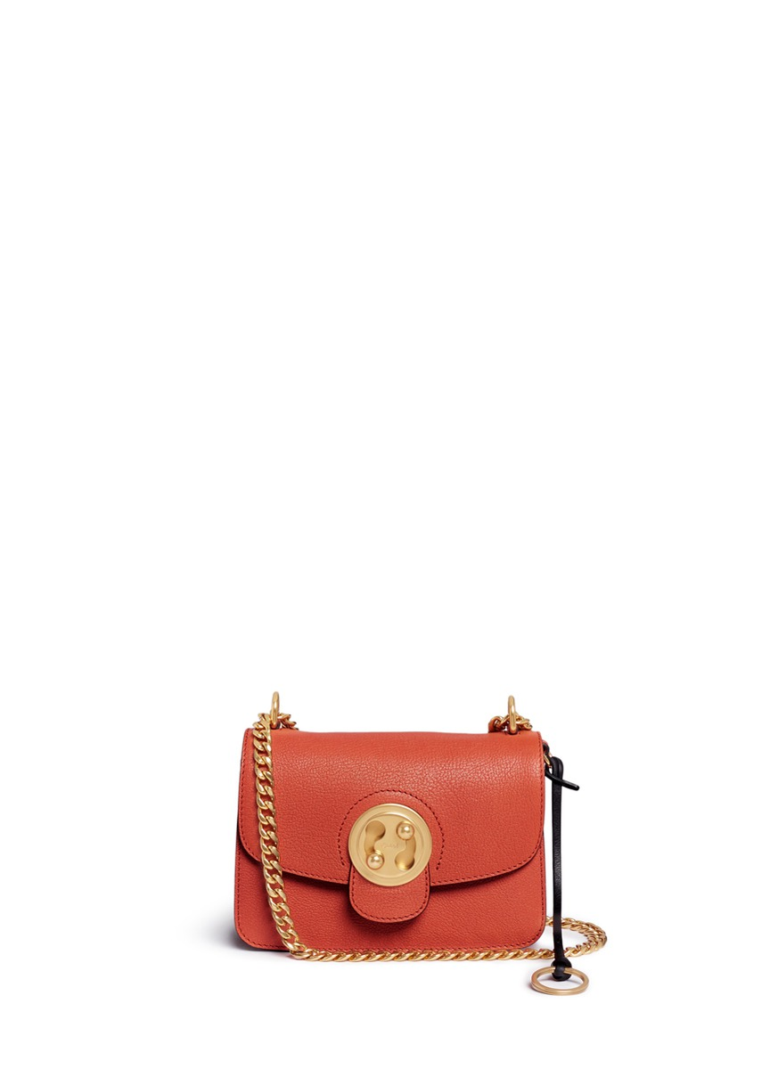 Mily small leather turnlock flap shoulder bag by Chloé