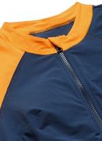 'Kelly' cutout colourblock long sleeve swimsuit