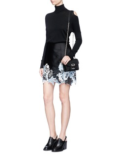 3.1 Phillip Lim Floral embroidered techno silk blend skirt