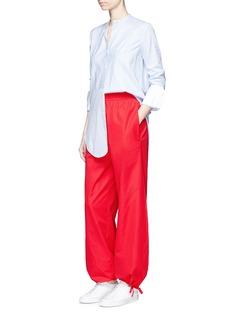 Ports 1961Tie cuff wide leg poplin pants
