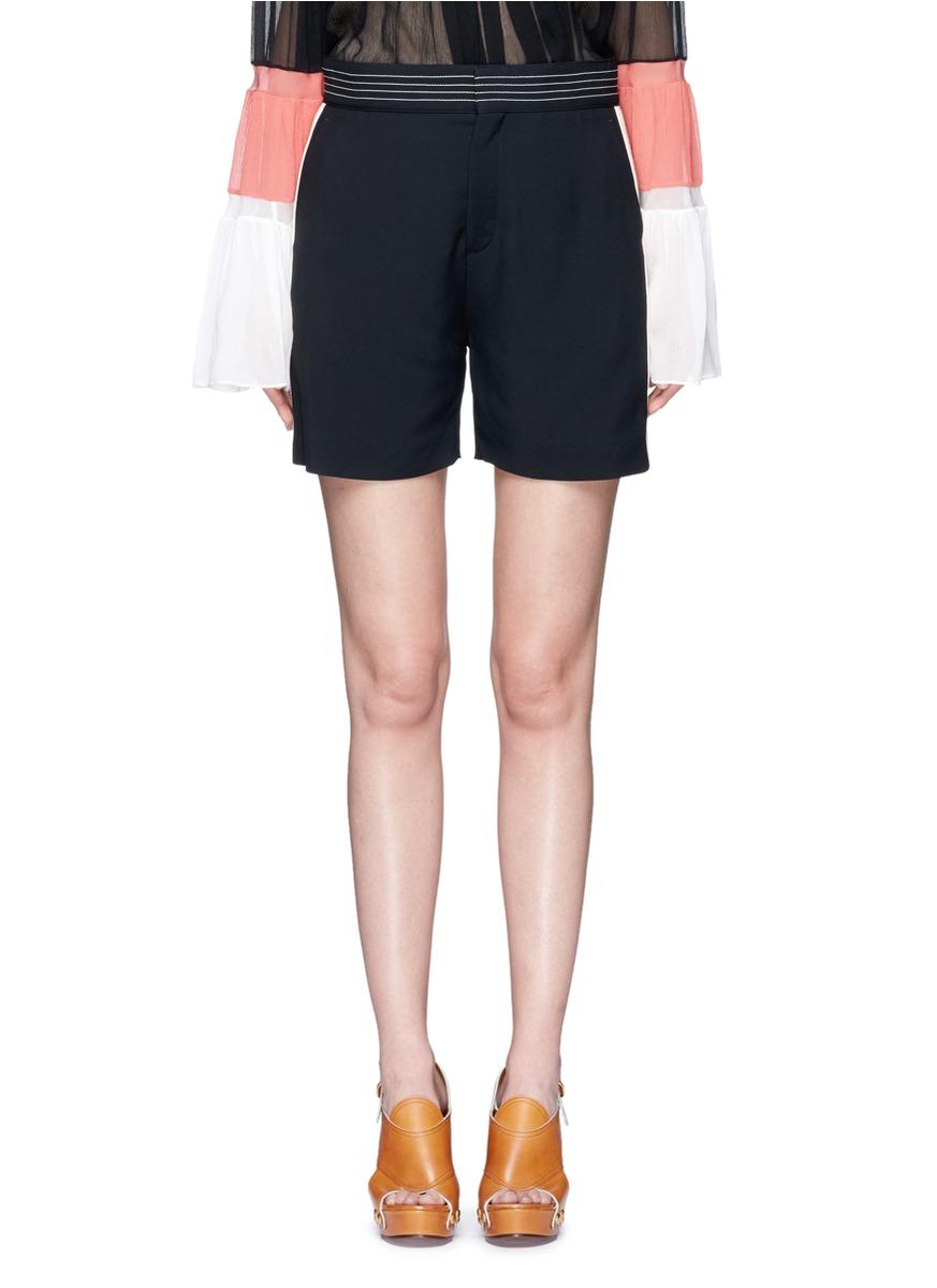 Stripe side cady shorts by Chloé