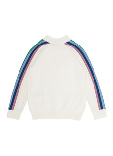 Stella McCartney 'Peanut' rainbow stripe intarsia kids cardigan