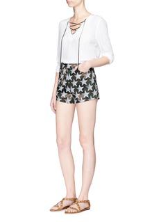 Valentino'Camustars' print cotton twill shorts
