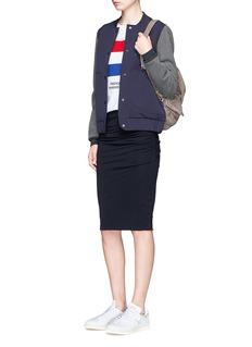 Etre Cecile 'Presque Parisians' stripe appliqué cotton T-shirt