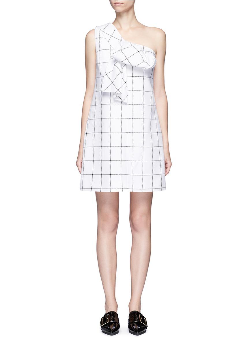 Twist bow one-shoulder dress by VICTORIA, VICTORIA BECKHAM
