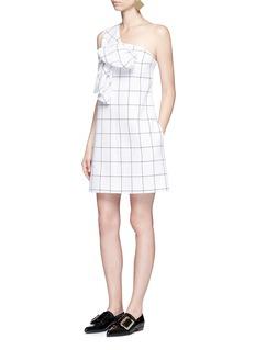 VICTORIA, VICTORIA BECKHAMTwist bow one-shoulder dress
