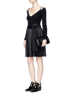 3.1 Phillip Lim Belted plissé pleated skirt