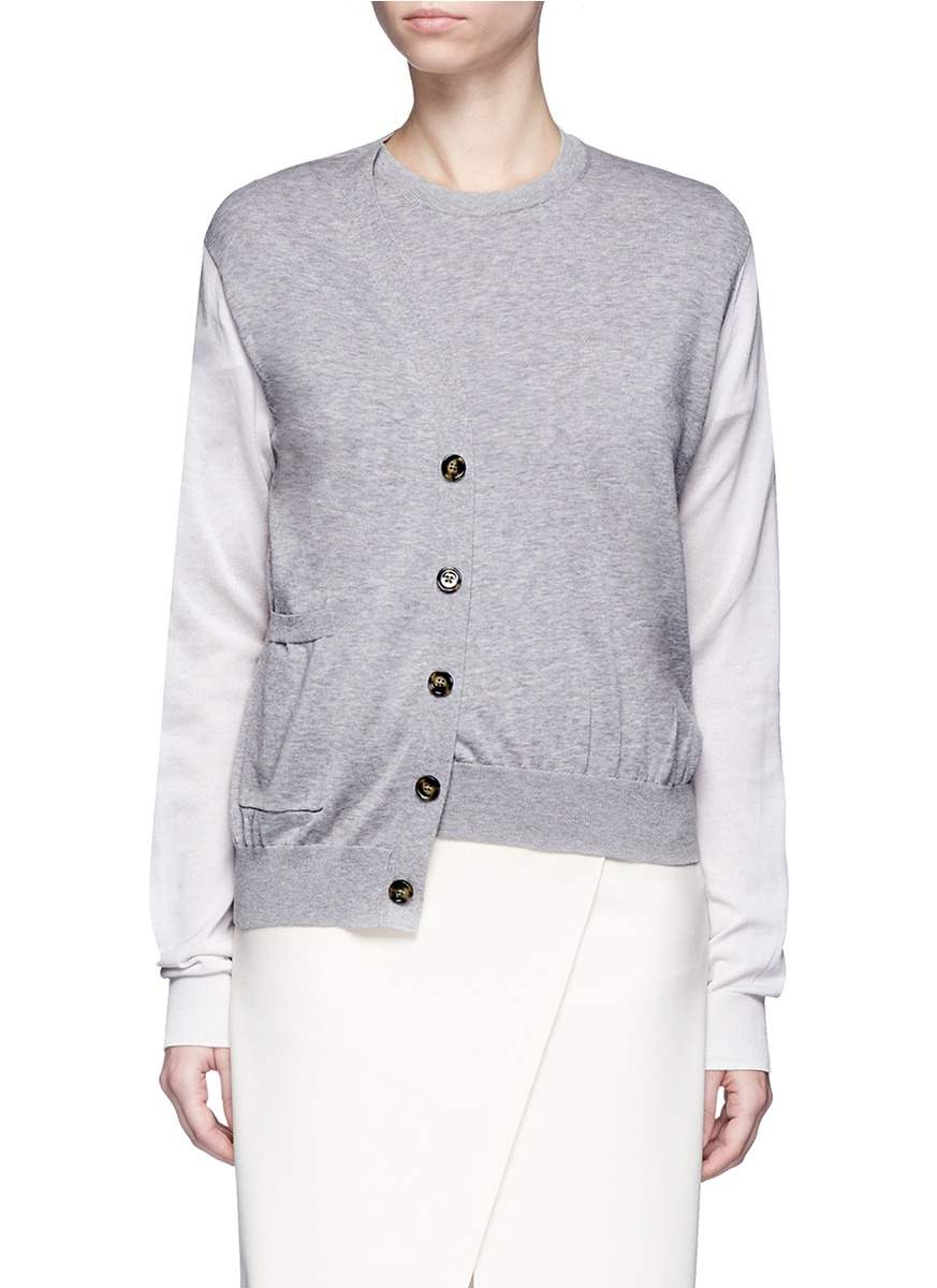 Kashi colourblock cardigan front sweater by Acne Studios