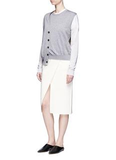 Acne Studios'Kashi' colourblock cardigan front sweater