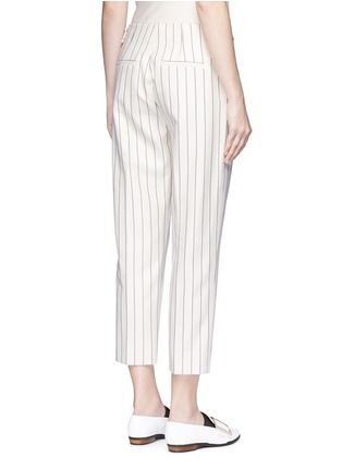 Back View - Click To Enlarge - VICTORIA, VICTORIA BECKHAM - Stripe calvary twill cropped pants