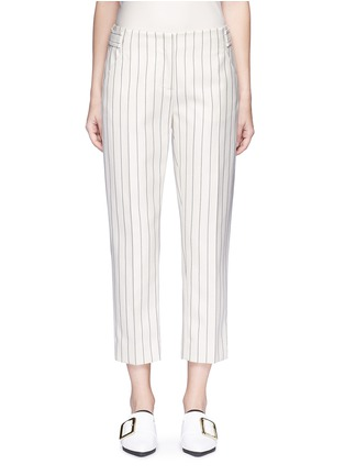 Main View - Click To Enlarge - VICTORIA, VICTORIA BECKHAM - Stripe calvary twill cropped pants
