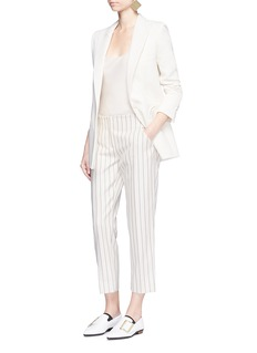VICTORIA, VICTORIA BECKHAM Stripe calvary twill cropped pants