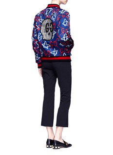Gucci'GucciGhost' skull embellished bomber jacket