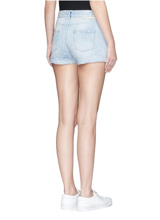 Back View - Click To Enlarge - Stella McCartney - 'Tomboy' star embroidered denim shorts