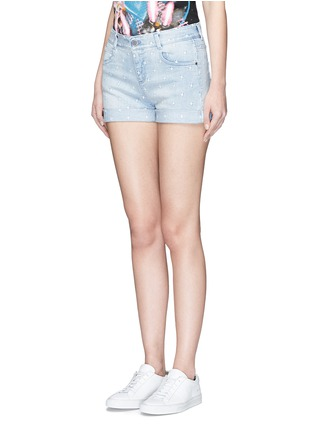 Front View - Click To Enlarge - Stella McCartney - 'Tomboy' star embroidered denim shorts