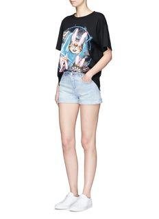 Stella McCartney'Tomboy' star embroidered denim shorts