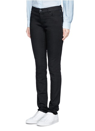 Front View - Click To Enlarge - Valentino - 'Rockstud Untitled 06 Noir' skinny jeans
