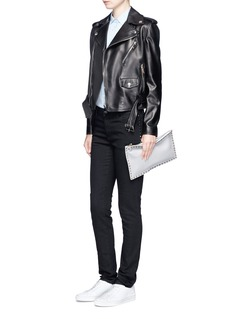 Valentino 'Rockstud Untitled 06 Noir' skinny jeans