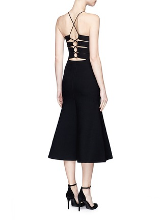 Back View - Click To Enlarge - Alexander Wang  - Cutout lace back knit dress