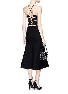 Alexander Wang Cutout lace back knit dress