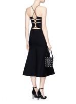 Cutout lace back knit dress