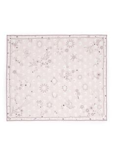 Alexander McQueenDoodle star skull print silk chiffon scarf