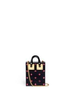 Sophie HulmeCompton' glitter polka dot Perspex crossbody bag