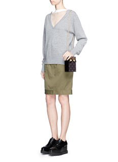 Sophie Hulme'Compton' glitter polka dot Perspex crossbody bag