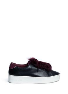 Michael Kors'Poppy' rabbit fur leather sneakers
