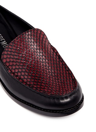 Opening Ceremony - 'Nebulla' water snakeskin panel leather mules
