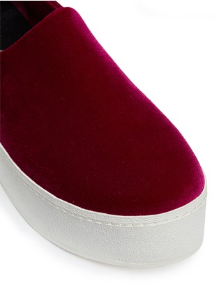 Detail View - Click To Enlarge - Opening Ceremony - 'Cici' velvet flatform skate slip-ons