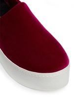 'Cici' velvet flatform skate slip-ons