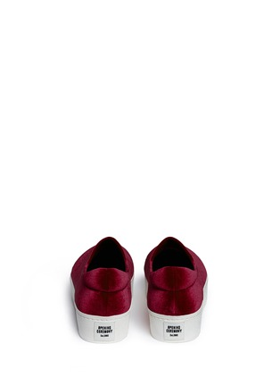 Back View - Click To Enlarge - Opening Ceremony - 'Cici' velvet flatform skate slip-ons